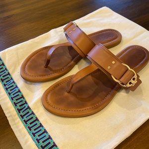 Tory Burch Marsden flat thong sandal calf leather